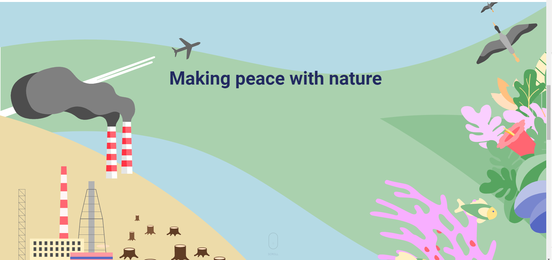 Making peace with nature is possible if we start now