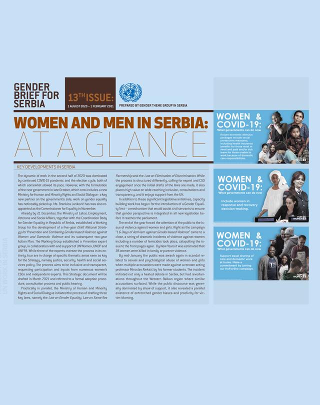 Gender Brief for Serbia - vol. 13